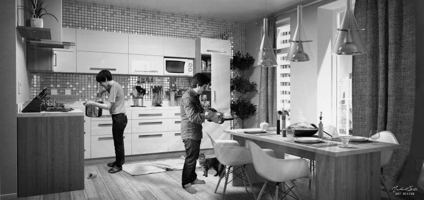 Kitchen - VISTA 01 edit black.